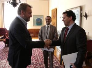 Susret sa članom libijskog Prelaznog nacionalnog vijeća Jamalom Issuom